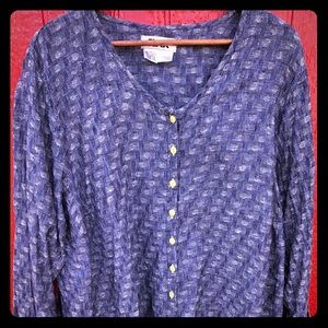 Flax Plus size 1G linen button up tunic